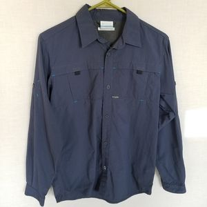 Columbia Omni Shade Navy Shirt Youth SZ Large SPF